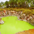 New Zealand - At Devil`s Bath you Can Smell Hell Itself