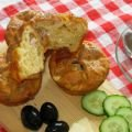 Phyllo Pastry Muffins with Feta, Cheese, Bacon and Olives
