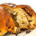 Cake with Raisins and Almonds