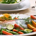 Trout with Stewed Vegetables
