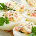 Stuffed Eggs with a Dairy-Garlic Sauce