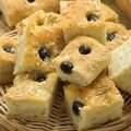 Focaccia with Olives and White Wine
