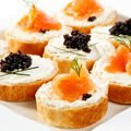 Salmon and Caviar Bites