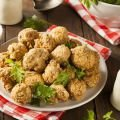 Fried Greek-Style Mozzarella Balls with Sauce