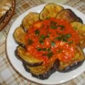 Fried Eggplants with Tomatoes