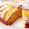 Cake with Peach Compote