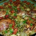 Appetizing Chicken with Peas and Potatoes