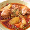 Chicken Stew with Peas and Potatoes