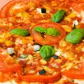 Oven baked sea bass with tomato and basil at what temp - Homemade Pizza with Tomatoes and Cheese