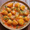 Sauteed Potatoes with Tomato Juice