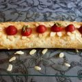 Meringue Roll with Mascarpone and Strawberries