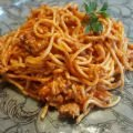 Spaghetti with Mince and Tomatoes