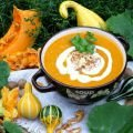 Cream of Pumpkin Soup with a Mix of Veggies