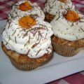 Pumpkin Muffins with Cream