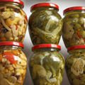 Pickled Celery Recipes - Salted and Pickled Green Tomatoes and Peppers