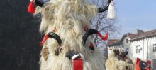 Kukeri from Eleshnitsa Practice for Easter