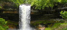 Most beautiful waterfalls,  -  Minnehaha Falls