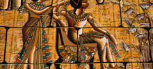 Ancient Egyptian Hieroglyphics of Mermaids - The symbol of the winged sun