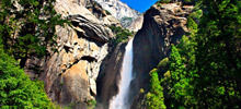 Most beautiful waterfalls,  -  Yosemite Falls