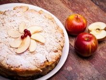 Cake with Red Apples