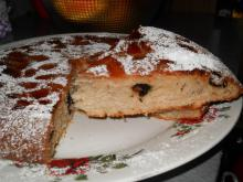 Apple Cake with Prunes and Pomegranate
