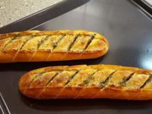 Homemade Baguettes with Garlic