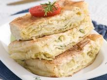 Pie with Leeks and Feta Cheese