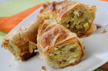 Phyllo Pastry with Potatoes and Mince