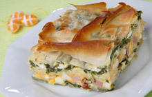 Spinach Pie with Ham