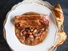 Ripe Beans with Ribs