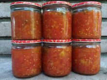 Peeled Tomatoes in Jars