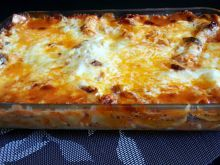 Lasagna with Bechamel Sauce, Cheese and Olives