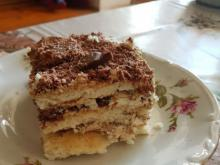 Biscuit Cake with Mascarpone and Banana