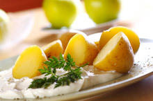 Fresh Potatoes with Milk Sauce