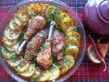 Chicken Legs with Aromatic Fresh Potatoes