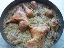 Chicken Legs with White Rice