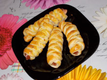 Tasty Puff Pastries with Wieners