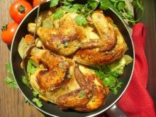 Roasted Chicken with Eggs