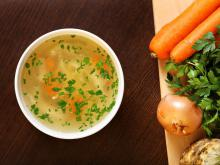 Chicken Soup with Onions and Carrots