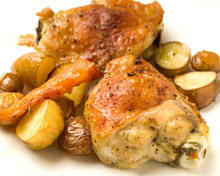 Chicken with Cheese and Potatoes