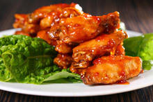 Glazed Chicken Wings with Apricot Jam