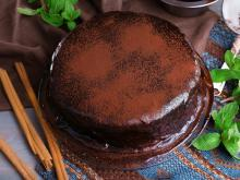 Cake with Chocolate Buttercream