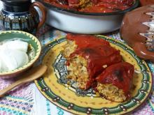 Classic Stuffed Peppers with Pearl Rice