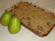 Crumble with Pears and Caramel
