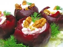 Beetroots with Cream Cheese Filling