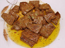 Naturally Fried Liver with Red Wine Sauce
