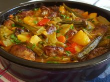 Chicken Livers with Vegetables