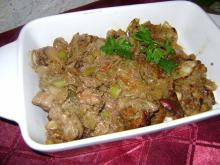 Tasty Chicken Livers with Leeks and Onions