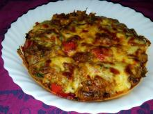 Chicken Livers with Vegetables and Cheese