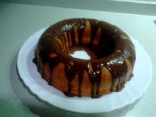 Sponge Cake with Chocolate Glaze